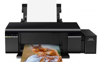 Printer Epson Foto L805, Wi-Fi, A4, 5760x1440dpi, 1.5pl, CD/DVD print, 37/38ppm, 64-300 г.м, 6 tank, Ink T6731Bk, T6732C,T6733M,T6734Y,T6735LC,T6736LM - 1800 фото 10*15),
