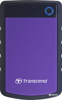 "купить 1.0TB (USB3.1) 2.5"" Transcend ""StoreJet 25H3P"", Rubber Grey/Violet, Anti-Shock, One Touch Backup в Кишинёве"