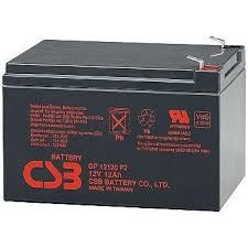 CSB Battery 12V 12AH, GP 12120 F2, 3-5 Years Life Time
