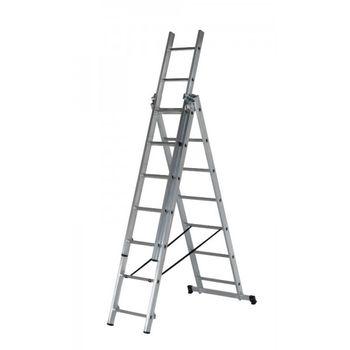 купить Ascara , VHR TK 3x7 Лестница алюминиевая трехсекционная Elkop в Кишинёве