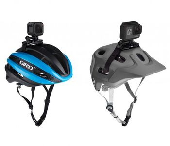 GoPro Vented Helmet Strap Mount - Attach your GoPro to a vented bike, ski, kayak or other helmet., compatible with all GoPro cameras.