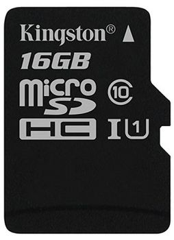 Kingston 16GB microSDHC Canvas Select Class10 UHS-I, 400x, Up to: 80MB/s