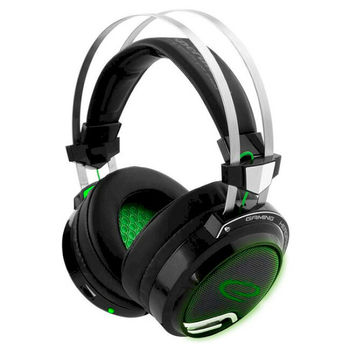 купить Headset Gaming Esperanza BLOODHUNTER EGH9000, 7.1 SURROUND SOUND, Vibration, Green LED backlight, USB 2.0, Drivers 40mm, Volume control, Cable length 2m, Weight 380g в Кишинёве