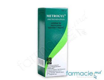 купить Метрогил, раствор для внутривенного введения 0,5% 100 мл в Кишинёве