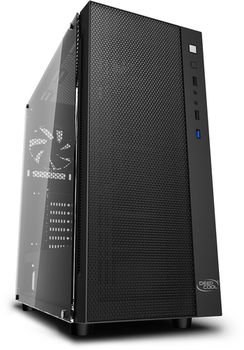 купить Case ATX Deepcool MATREXX 55 MESH, w/o PSU,Ttempered Glass, USB3.0, Black в Кишинёве