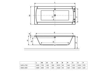 Ванна прямоугольная Excellent Crown II 170