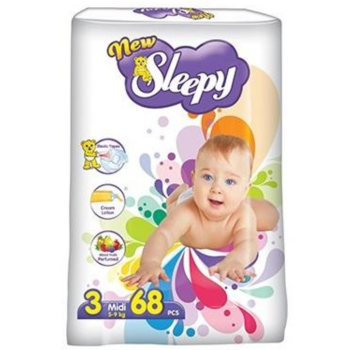 купить Sleepy Подгузники для детей 3, 5-9кг, 68 шт. в Кишинёве