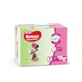 купить Huggies подгузники Ultra Comfort Disney Box 5 для девочек, 12-22кг 105шт в Кишинёве