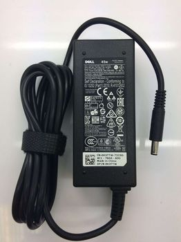 AC Adapter Charger For Dell 19.5V-2.31A (45W) Round DC Jack 4,5*3,0mm w/pin inside Original