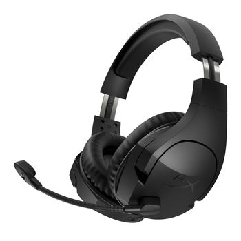 HYPERX Cloud Stinger Wireless Headset, Black, 90-degree rotating ear cups, Microphone built-in, Frequency response: 18Hz–23,000 Hz, Cable length:1.3m+1.7m extension, 3.5 jack, 2.4GHz Wireless Connection, maximum 500mW