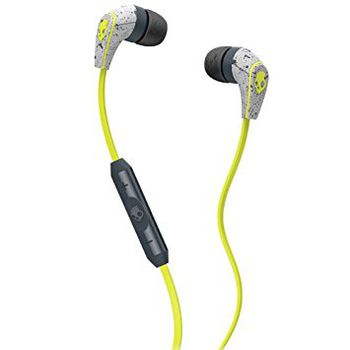 SkullCandy S2RFGY-386 RIFF in-ear w/Mic, dark gray/light gray/hot lime