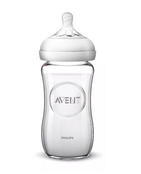 Бутылочка стеклянная для кормления Avent Natural SCF053/17, 240 мл