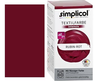 купить SIMPLICOL Intensiv - Rubin-Rot, Краска для окрашивания одежды в стиральной машине, Rubin-Rot в Кишинёве