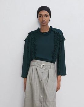 Блуза ZARA Темно зеленый 3666/185/501