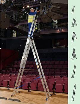 купить Трехсекционная лестница (3x12ст) Z300 42342 в Кишинёве