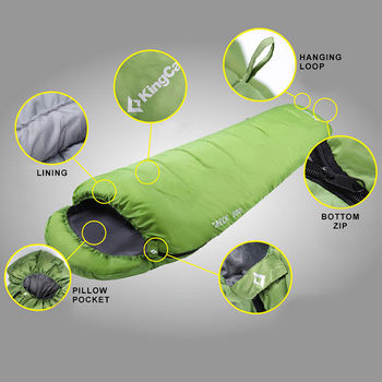 купить Спальный мешок KingCamp KS3191 Treck 200 (980) 215x80x55 см GREEN в Кишинёве