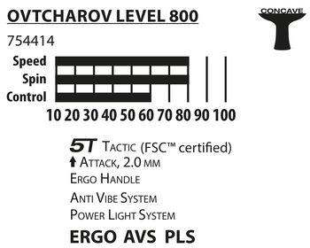 купить Ракетка для настольного тенниса Donic Ovtcharov 800 FSC 754414, 2.0 mm, FSC-wood (3192) в Кишинёве