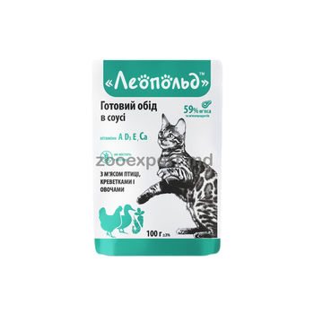 купить Леопольд с мясом птицы, креветками и овощами 100gr в Кишинёве