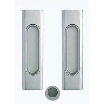 Комплект ручек для раздвижных дверей 1038-26/26D полированный хром/хром сатин