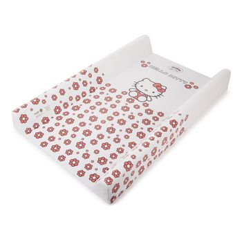 Пеленальная досочка (без подголовника) 50x70 Hello Kitty, белая, код 43745
