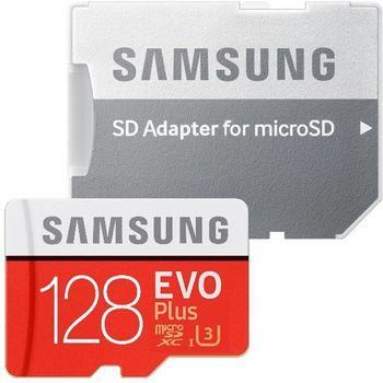 cumpără Samsung EVO Plus 128GB MicroSD (Class 10) UHS-I (U3) +SD adapter, în Chișinău