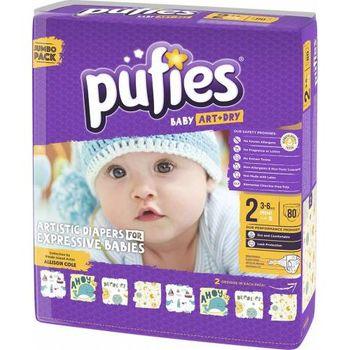 купить Pufies подгузники Baby Art Mini 2, 3-6кг. 80шт в Кишинёве