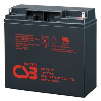 CSB Battery 12V 17AH, GP 12170, 3-5 Years Life Time