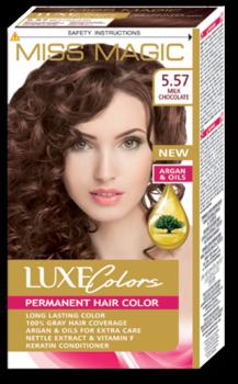 Краска для волос,SOLVEX Miss Magic Luxe Colors, 108 мл., 5.57 - Молочный шоколад