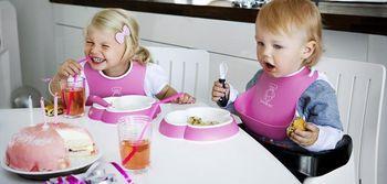 купить Мягкий нагрудник BabyBjorn Soft Bib Pink в Кишинёве