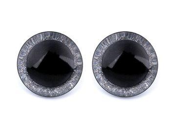 Ochi pentru jucării cu sclipici, Ø20 mm / argintiu