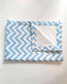 Непромокаемая пелёнка Pampy 50*70 blue lines