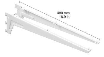 cumpără Clemă unghiulară 480 mm, 1 pereche, alb în Chișinău