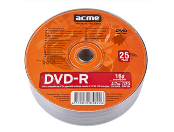 ACME DVD-R 4,7GB 16X 25pack shrink