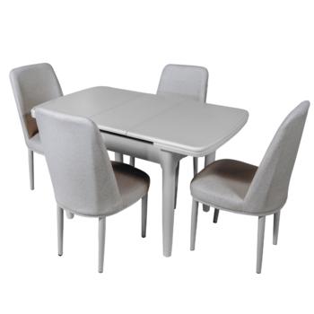 Раздвижной стол DT A56 слоновая кость