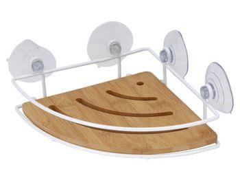 Полочка в ванную угловая 20X20cm, бамбук