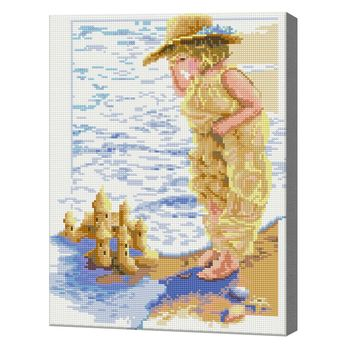 Алмазная мозаика 40x50 см На берегу моря