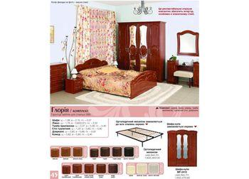 Спальня Глория лак вишня