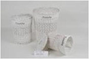 купить Корзина круглая из ивы с текстилем 370x490 мм, белый в Кишинёве