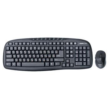 SVEN Comfort 3400 Wireless, Keyboard & Mouse, 2.4GHz , Multimedia Keyboard(8 keys) + Mouse(5 keys,800/1200/1600dpi), Nano receiver, USB, Black