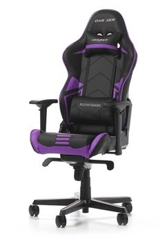 Gaming Chairs DXRacer - Racing PRO GC-R131-NV-V2, Black/Black/Violet - Carbon Look Vinyl & PU,Gamer weight up to 115kg/growth 165-195cm,Foam Density 50kg/m3,5-star Alum IC Base,Gas Lift 4 Class,Recline 90*-135*,Armrests:4D,Pillow-2,Caster-3*PU,W-26kg