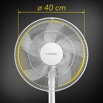 купить Вентилятор с ножкой 48Вт белый  TROTEC TVE24S в Кишинёве