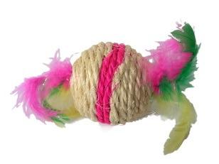 купить Игрушка веревочная с перьями, R1006-7 в Кишинёве