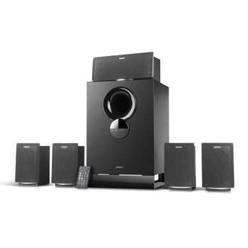 "Edifier R501BT Bluetooth Black, 5.1/30W+ 5x11W RMS, remote control, all wooden, (sub.8"" + satl.(3""+1""))"