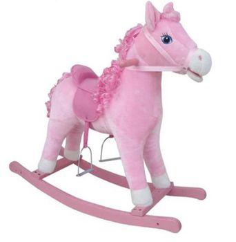 Babyland лошадка качалка (розовая)