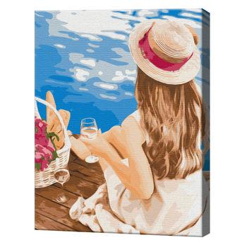 Мечтательница в шляпке, 40х50 см, картина по номерам  BS51332