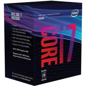 купить CPU Intel Core i7-8700 3.2-4.6GHz (6C/12T, 12MB, S1151, 14nm, Integrated UHD Graphics 630, 65W) Tray в Кишинёве