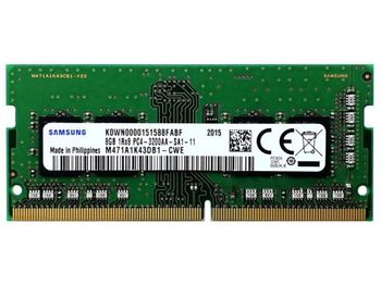 .8 ГБ DDR4- 3200 МГц SODIMM Samsung Original PC25600, CL22, 260-контактный модуль DIMM 1,2 В