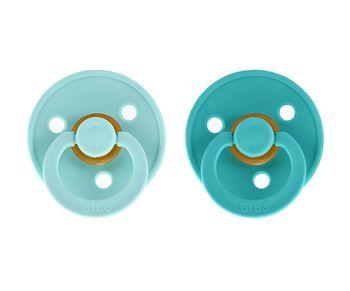 купить Пустышки латексные круглые BIBS (0-6 мес) Mint/Turquoise в Кишинёве