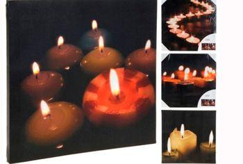 """Картина LED """"Рождестввенский сюжет"""" 30X30cm"""
