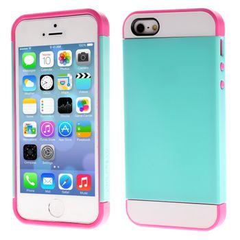 Чехол для iPhone 5 / 5S Slim Armor Fresh зеленый с розовым